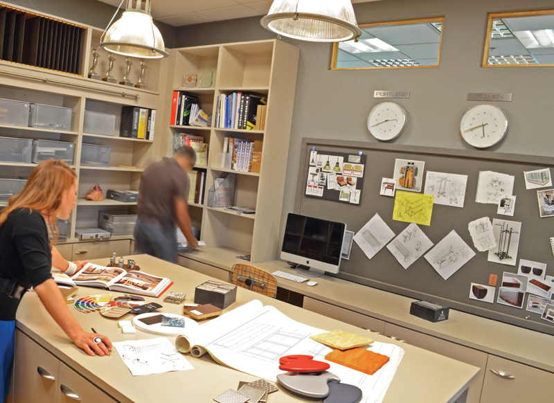 Room to inspire new design resource library for clients for Interior design materials list